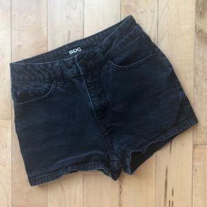 BDG Urban Outfitters black denim shorts size 24
